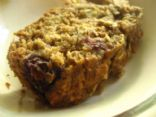 Whole Wheat Zucchini Banana Bread with Nuts & Blueberries