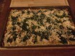 Chicken & Mushroom Alfredo Cauliflower Crust Pizza