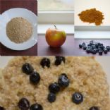 Steel Cut Oats with Blueberries and Apple