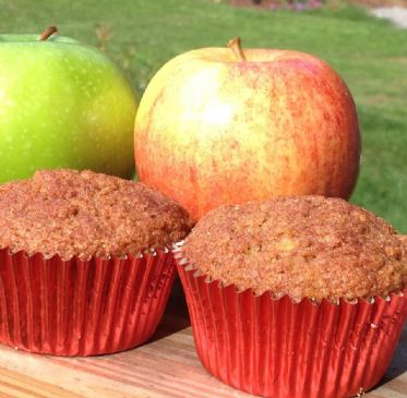 Apple Streusel Cinnamon Swirl Muffins