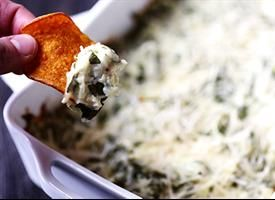 Greek Yogurt Hot Spinach Dip