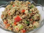 Curried Quinoa Salad with Lentils and Sun-Dried Tomatoes