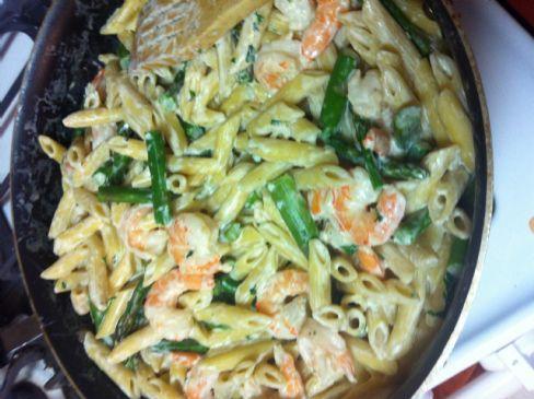 Recipe for garlic cream sauce pasta