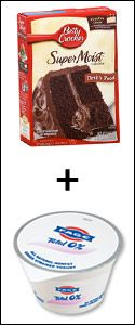 Cake Mix + Fat-Free Greek Yogurt