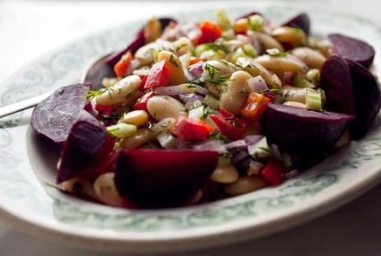Marinated GIant White Beans and Beets (NY Times)