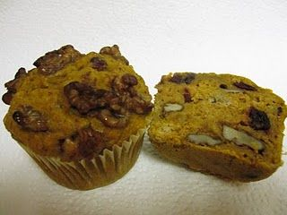 Pumpkin spice walnut muffin
