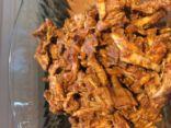 Pulled Pork from Pork Tenderloin (less caloric!)