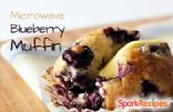 Blueberry Flax Microwave Muffin