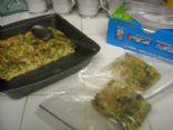 Frittata - Veggie Sausage, Broccoli, Tomato, and Basil