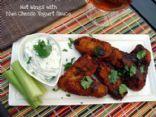 Hot Wings with Blue Cheese Yogurt Sauce