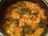 The Digest Diet - Kale and Chickpeas Soup w/ Feta Cheese