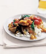 Curried Eggplant With Tomatoes and Basil