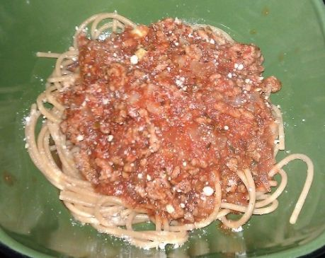 Healthy, Hearty Meat Pasta Sauce