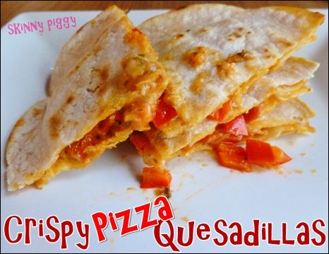 Crispy Pizza Quesadilla
