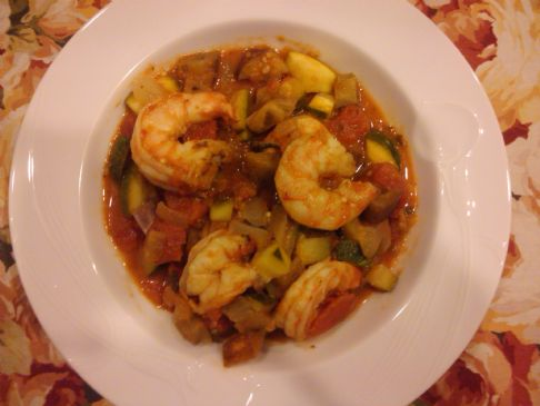 Shrimp Ratatouille....with a Greek spin