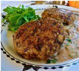 WILD RICE CROQUETTES w/Mushroom Gravy