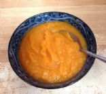 Autumn Orange Soup with lentils, vegan