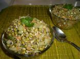 Moong daal sprout salad