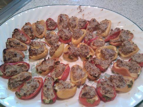 Mini stuffed pepper appetizers