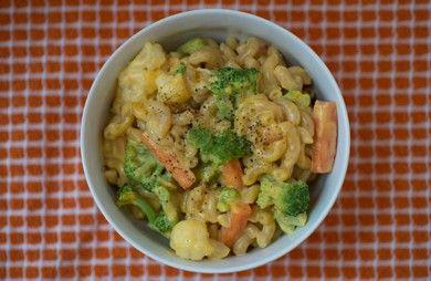 Six-Ingredient Cheesy Veggie Pasta