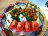 Sweet Potato, Egg & Spinach Hash