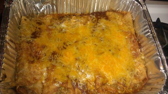 Ground Turkey Red Enchiladas