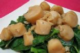 Stir-fry Scallops with Baby Kai Lan