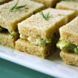 Avocado & Shrimp Tea Sandwiches