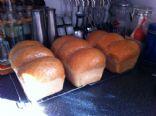 Carlie's fav home made bread white/whole wheat