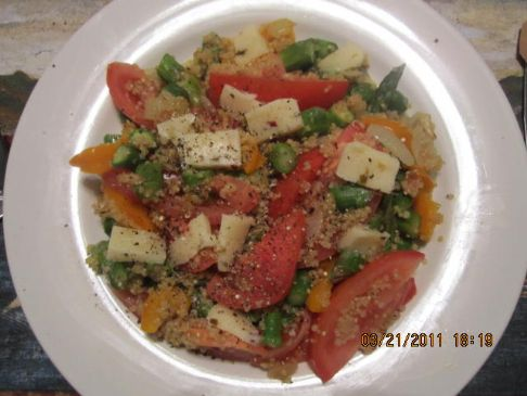 Quinoa Asparagus Tomato Entree