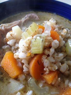 Lamb barley and vegetable soup