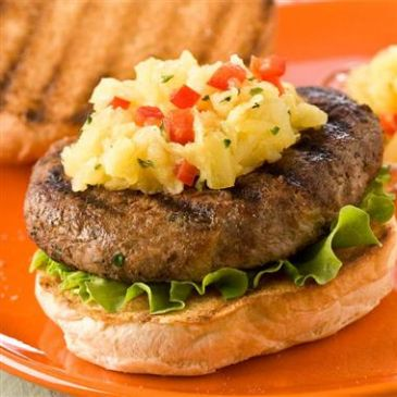Carribean Turkey Burgers with Tropical Salsa