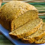Bread Machine Recipe - Whole Wheat & Rye Bread w/ Oats, Bran & Flax Seed w/ No Added Salt or Oil
