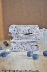Blueberry Bliss Bars from My Whole food Life.com  (made healthier)