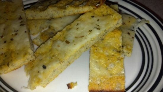 Low Carb Cauliflower Bread Sticks ( no cheese in dough)