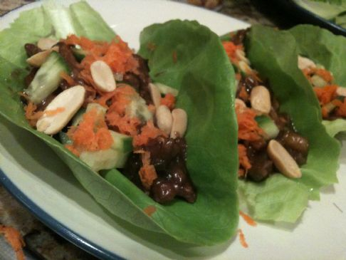 Orange Beef Lettuce Wraps (From Don't Panic, Dinner's In the Freezer)