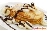 Peanut Butter, Chocolate Chip, & Banana Pancakes