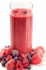 My Mixed Berry & Peach Smoothie!