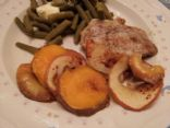 Roasted Pork Chops with Sweet Potatoes & Apples