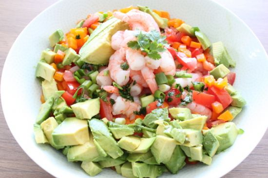 Shrimp �Grok-amole� Salad