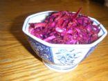 Beautiful Purple Vegetable Slaw