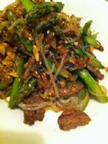 HCG Phase 3 - Spicy Buffalo and Asparagus with Miracle Noodles