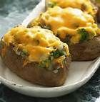 Chicken & Broccoli stuffed potatoes