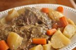 Crockpot 8 layer Garlicy Beef 'roast' stew