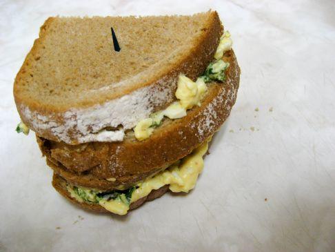 J's Egg Salad Sandwich on Rye