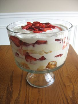 White Chocolate Angel Berry Triffle