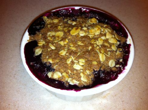 Blueberry Breakfast Crisp