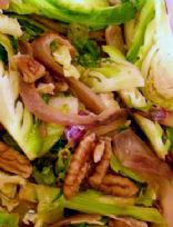 Brussels sprouts with pecans and caramelized onions