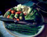 Karl's favorite steamed veggie platter