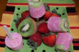 Strawberry-Kiwi Yogurt Freezer Pops